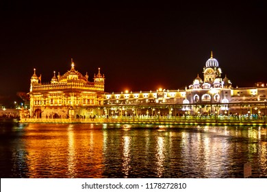 Amritsar: May 2018: Golden temple is a Gurudwara located in the city of Amritsar, Punjab, India. It is one of the most revered spiritual sites of Sikhism.