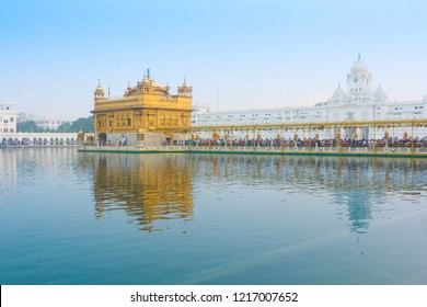 "Amritsar, Punjab, India - 14 November 2016: The Golden Temple, also known as Sri Harmandir Sahib (""abode of God"")"