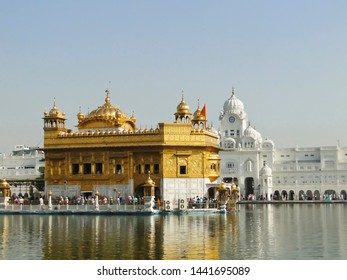 AMRITSAR, PUNJAB, INDIA, October 2013, Devotee at Golden Temple, Amritsar Punjab state of India