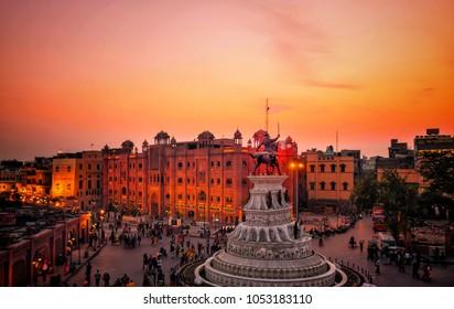 Amritsar sunset view India punjab