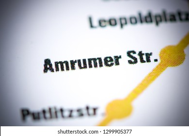 Amrumer Str Station. Berlin Metro map.