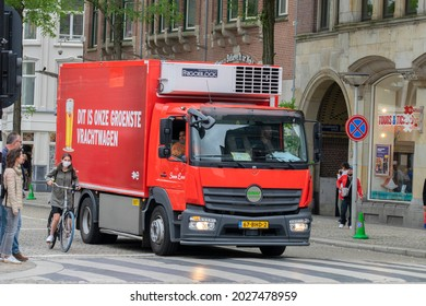 Amstel Beer Company Truck At Amsterdam The Netherlands 18-8-2021