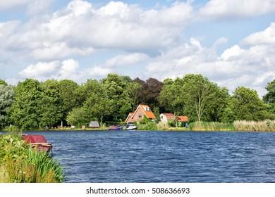 Amstel river near Amsterdam and Amstelveen