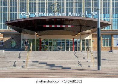 The Amstel Station At Amsterdam The Netherlands 2019