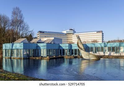 Amstelveen, Netherlands, December, 2016: Head office of KLM, Royal Dutch Airlines, part of the Air France KLM Group