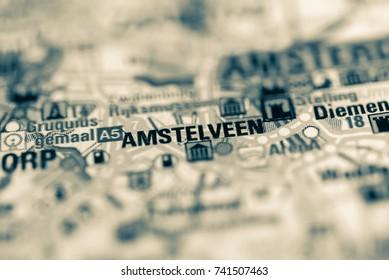 Amstelveen on map.