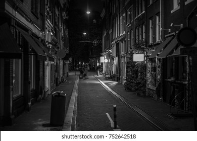 Amsterdam alley at night