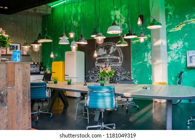 Amsterdam, APR 22: Interior view of the Enterprise rent a car store on APR 22, 2018 at Amsterdam, Netherlands