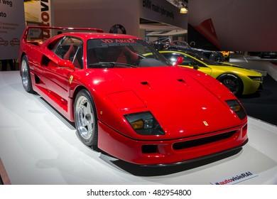 AMSTERDAM - APRIL 16, 2015: Ferrari F40 sports car at the Amsterdam AutoRAI Motor Show