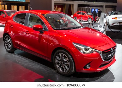 AMSTERDAM - APRIL 16, 2015: Mazda 2 car showcased at the AutoRAI Motor Show.