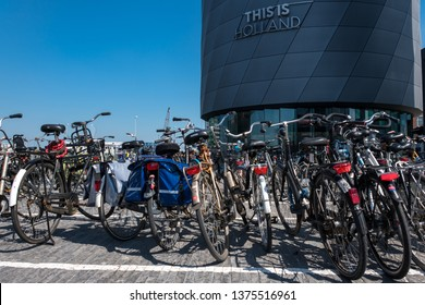 """AMSTERDAM - APRIL 20, 2018:  """"This is Holland"""" is a sensational new 5D ride in the North of Amsterdam. It will literally take you on a flight, to see the highlights of The Netherlands, in under 90'!"""