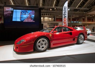 AMSTERDAM - APRIL 22:Ferrari F40 on display during the AutoRAI motorshow on April 22, 2011 in Amsterdam, The Netherlands.