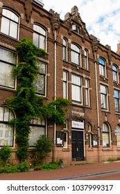 AMSTERDAM - AUGUST 1, 2017: Architecture of Amsterdam, the capital of Netherlands and a popular touristic destination