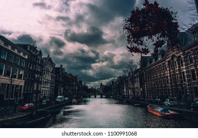 amsterdam canal by afternoon