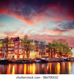Amsterdam canal on the west. Amsterdam is the capital and most densely populated city in the Netherlands.