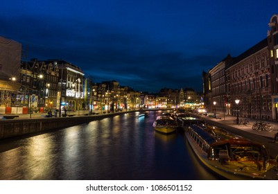 Amsterdam canals at bluehour