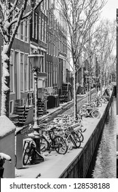 Amsterdam Channel in Snow