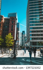 Amsterdam, Claude Debussylaan, the Netherlands, 05/13/2019, 'Zuidas' business district located in Amsterdam, The Netherlands
