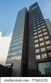 Amsterdam - December 14, 2017: ABN-AMRO office at business district Zuidas