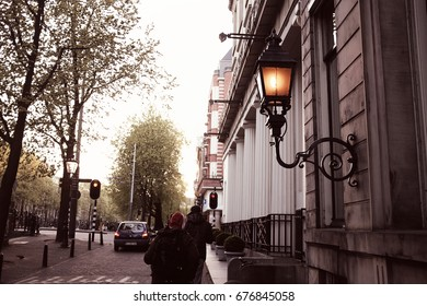Amsterdam, Holland - April 22: Capture photo of the street on April 22, 2017 in Amsterdam, Holland.