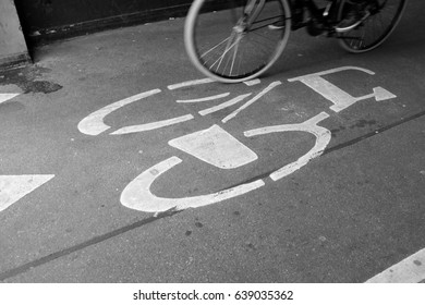 Amsterdam, Holland - April 22:  photo of the bicycle symbol on April 22, 2017 in Amsterdam, Holland.
