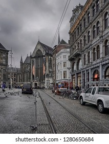 Amsterdam, Holland, the Netherlands, November 20, 2018 10:30: illustrative editorial photograph of the city of Amsterdam