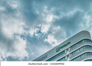 Amsterdam, Hoogoorddreef, the Netherlands, 09/13/2019, Holiday Inn Amsterdam - Arena Towers, Arena Park, business district, modern office buildings, South east Amsterdam