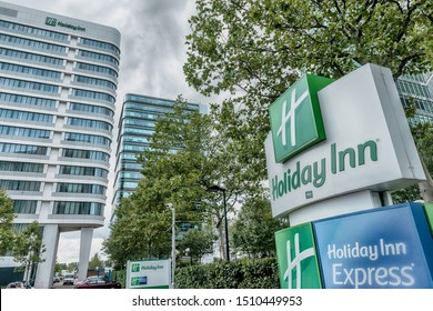 Amsterdam, Hoogoorddreef, the Netherlands, 09/13/2019, Holiday Inn Amsterdam Hotel - Arena Towers, Arena Park, business district, modern office buildings, South east Amsterdam