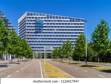 Amsterdam, July 2018. The Edge, built for the Deloitte company, is the greenest and smartest office building in the world. Extremely efficient in resources, and in assigning workspace to employees