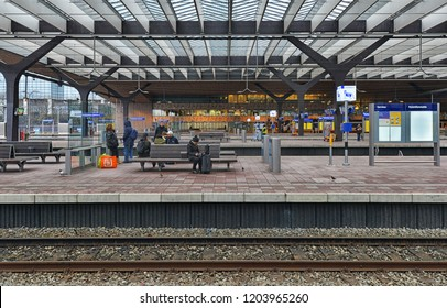 AMSTERDAM - JULY 25: view of Dutch railway station on July 25, 2017 in Amsterdam, The Netherlands. The Dutch railway company operates 4,800 trains a day.