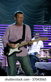 AMSTERDAM - JUNE 1: Eric Clapton performs during a live concert at Ahoy Rotterdam June 1, 2006 in Rotterdam, Netherlands.