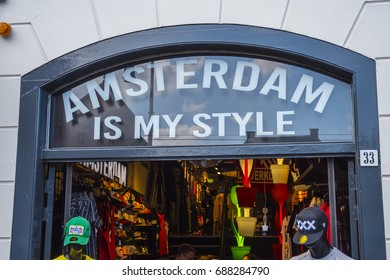 Amsterdam is my style - tourist shop - AMSTERDAM / THE NETHERLANDS - JULY 18, 2017
