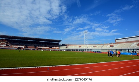 AMSTERDAM NETHERLAND OCTOBER 3 2015: Inside of the Amsterdam stadium of Games of the IX Olympiad, was built as the main stadium for the 1928 Summer