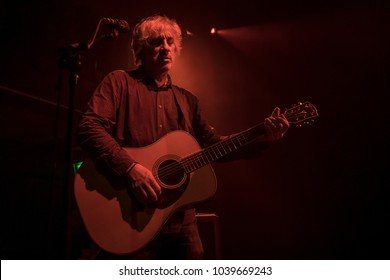 Amsterdam, The Netherlands - 01 March 2018: Concert of Americam singer and guitarist Lee Ranaldo Bitterzoet Paradiso Amsterdam. Lee Ranaldo was a former member of Sonic Youth;