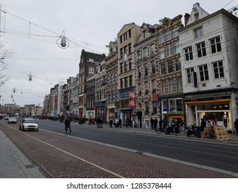 AMSTERDAM, NETHERLANDS - 02 January 2019 View of city area with building and other details