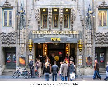 Amsterdam Netherlands 04/11/2004: Tuschinski theater Pathe cinema