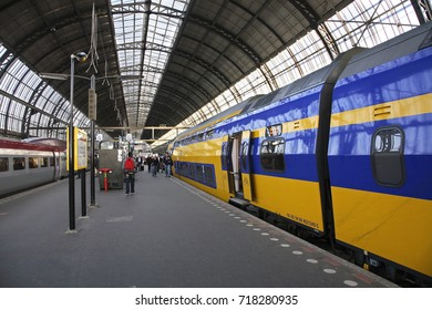 AMSTERDAM. NETHERLANDS. 06 APRIL 2011 : Railway station in Amsterdam. Netherlands