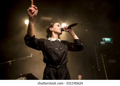 Amsterdam, The Netherlands - 06 December 2016: Concert of French singer-songwriter Jain at Bitterzoet Paradiso Amsterdam