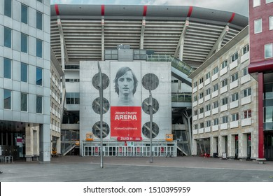 Amsterdam, The Netherlands, 09/13/2019 Johan Cruijff ArenA. Home of AJAX, Formerly known as the Amsterdam ArenA. Arena park, Football stadium