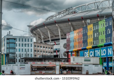 Amsterdam, The Netherlands, 09/13/2019 Johan Cruijff ArenA. Formerly known as the Amsterdam ArenA. Arena park, AJAX Football stadium, Febo snackbar
