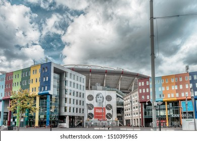Amsterdam, The Netherlands, 09/13/2019 Johan Cruijff ArenA. Formerly known as the Amsterdam ArenA. Arena park, Football stadium, FC AJAX