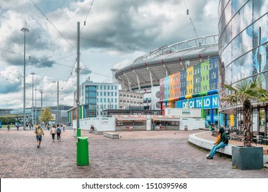 Amsterdam, The Netherlands, 09/13/2019 Johan Cruijff ArenA. Formerly known as the Amsterdam ArenA. Arena park, Football stadium, Febo snackbar
