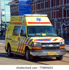 AMSTERDAM NETHERLANDS 10 03 15: Car of Emergency medical services in the Netherlands is a system of pre hospital care provided by the government in partnership with private companies.