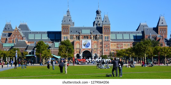 AMSTERDAM NETHERLANDS 10 03 2015 The Rijksmuseum is a Netherlands national museum dedicated to arts and history in Amsterdam. was founded in The Hague in 1800 and moved to Amsterdam in 1808