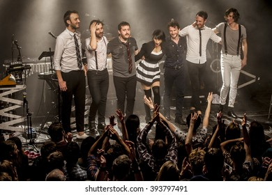 Amsterdam, The Netherlands, 16 March, 2016: concert of French electro swing band Caravan Palace at venue Melkweg