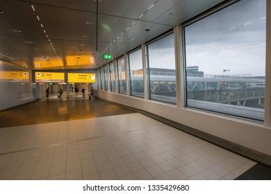 AMSTERDAM, NETHERLANDS - 17 AUGUST 2017: airport Schiphole