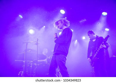 Amsterdam, The Netherlands - 17 February 2018 - Concert of British rock band The Charlatans at Paradiso Noord - De Tolhuistuin