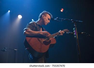 Amsterdam, The Netherlands - 2 November 2017: Concert of Israeli singer Asaf Avidan at Venue Melkweg in Amsterdam