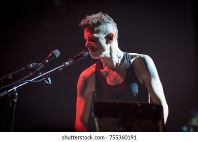 Amsterdam, The Netherlands - 2 November 2017: Concert of Israeli singer Asaf Avidan at Venue Melkweg in Amsterdam