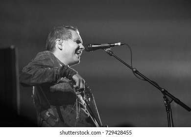 Amsterdam, The Netherlands - 2 October 2017:  Concert of Icelandic post rock band Sigur Ros at venue AFAS live in Amsterdam